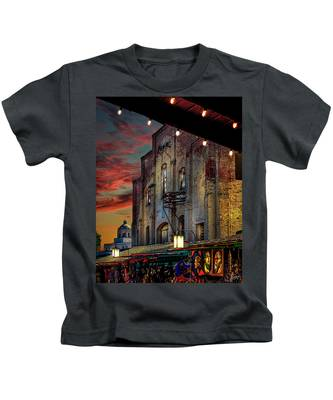 Kids T-Shirt featuring the photograph Olvera Street Market by Endre Balogh
