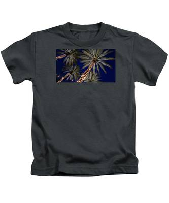 Palm Trees Wrapped In Lights Kids T-Shirt