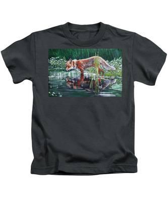 Red Fox Reflecting Kids T-Shirt