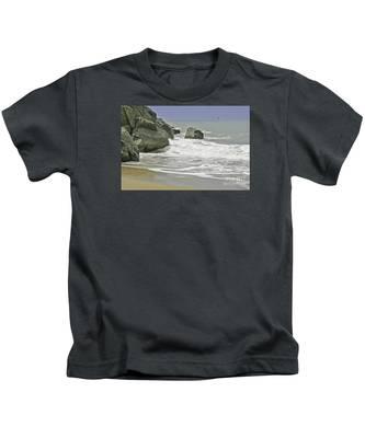 Rocks, Sand And Surf Kids T-Shirt