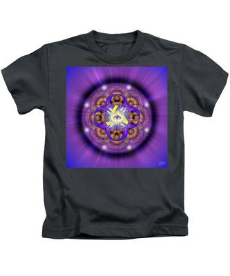Sacred Geometry 639 Kids T-Shirt by Endre Balogh