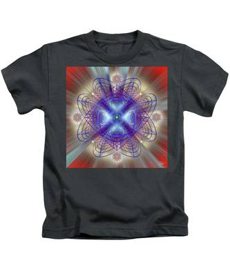 Kids T-Shirt featuring the digital art Sacred Geometry 656 by Endre Balogh
