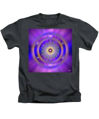 Kids T-Shirt featuring the digital art Sacred Geometry 658 by Endre Balogh
