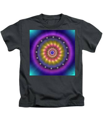 Kids T-Shirt featuring the digital art Sacred Geometry 659 by Endre Balogh