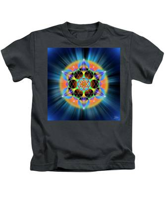 Kids T-Shirt featuring the digital art Sacred Geometry 709 by Endre Balogh