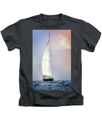 Kids T-Shirt featuring the photograph Sailboat 9 by Endre Balogh