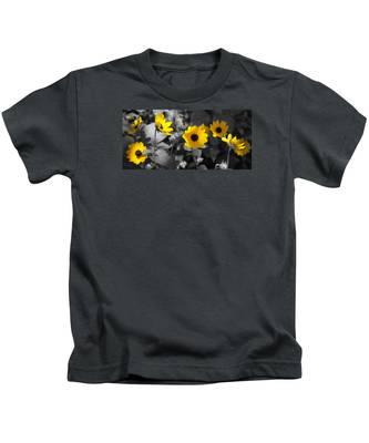 Shaded Daisies Kids T-Shirt