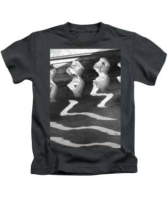 Shadow Of Railing Kids T-Shirt