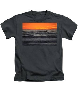 Kids T-Shirt featuring the photograph Solitude But Not Alone by Bridgette Gomes