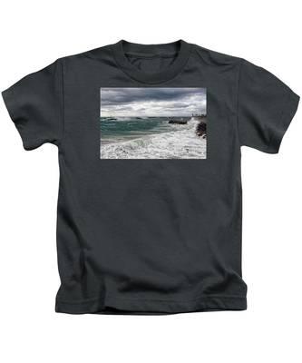 Stormy Day On Redondo Kids T-Shirt