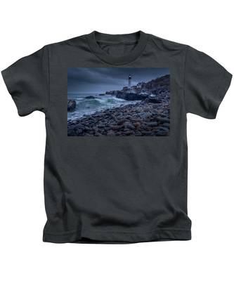 Stormy Lighthouse Kids T-Shirt