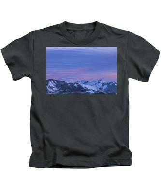 Striped Sky At Day's End Kids T-Shirt