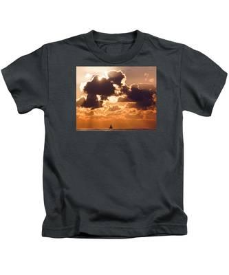 Sun Peek Sailboat Kids T-Shirt