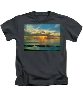 Sunset At Carlsbad Kids T-Shirt