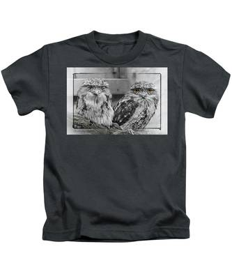 Tawney Frogmouths Kids T-Shirt