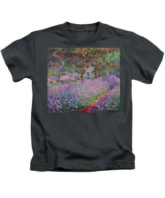 The Artists Garden At Giverny Kids T-Shirt