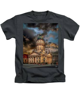 Kids T-Shirt featuring the photograph The French Church 3 by Endre Balogh