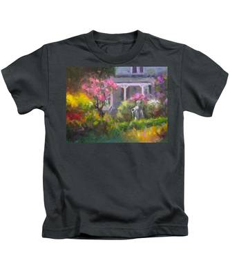 The Guardian - Plein Air Lilac Garden Kids T-Shirt
