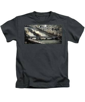 The River Seine - Paris Kids T-Shirt