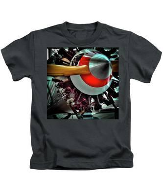 The Vintage Stearman C-3b Biplane Kids T-Shirt