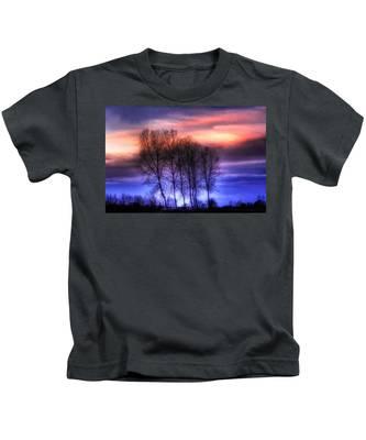 Trees And Twilight Kids T-Shirt