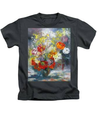 Tulips, Narcissus And Forsythia Kids T-Shirt