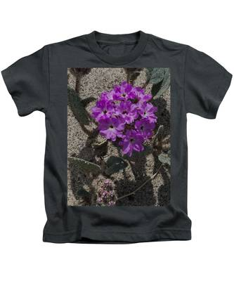 Violets In The Sand Kids T-Shirt