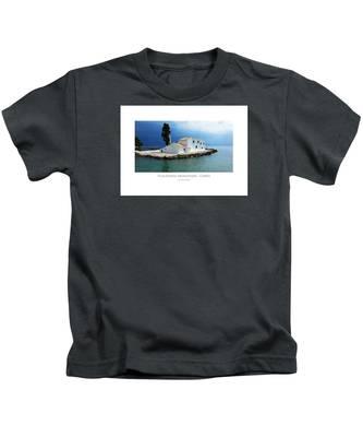 Vlachurna Monastary - Corfu Kids T-Shirt