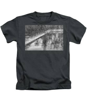 Water Flowing Over Dam In Wayne New Jersey Kids T-Shirt