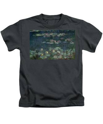 Waterlilies Green Reflections Kids T-Shirt