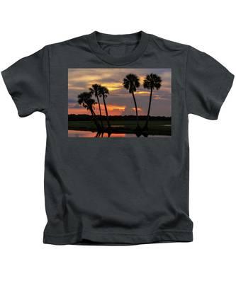 Wetlands Sunset Kids T-Shirt
