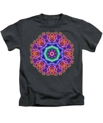 Wreath Of Satin Roses Kids T-Shirt