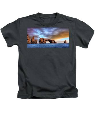 Anacapa Arch Rock Kids T-Shirt by Endre Balogh