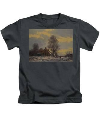 Dutch Snow Landscape Kids T-Shirt