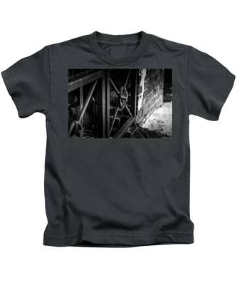 Iron Gate In Bw Kids T-Shirt