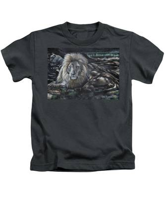 Lion In The Shade Kids T-Shirt