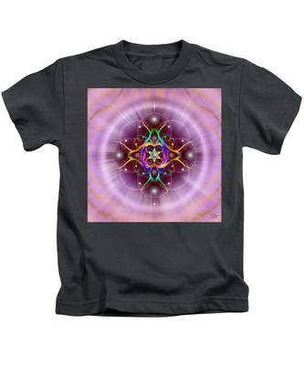 Kids T-Shirt featuring the digital art Sacred Geometry 757 by Endre Balogh