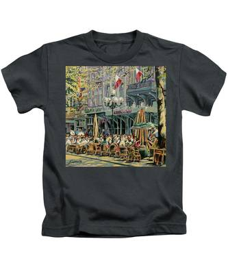 Terrace At The Vrijthof In Maastricht Kids T-Shirt