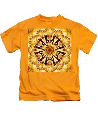 Kids T-Shirt featuring the digital art Cosmic Spiral Kaleidoscope 20 by Derek Gedney