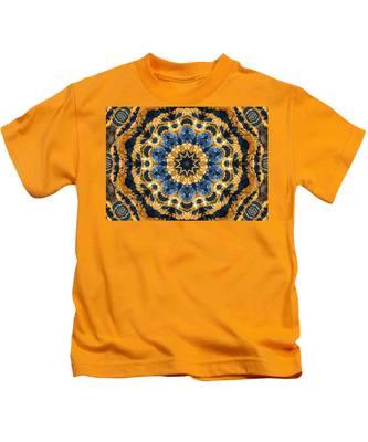 Dripping Gold Kaleidoscope Kids T-Shirt