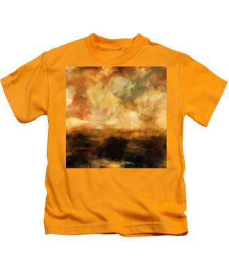 Landscape At Sunset Kids T-Shirt
