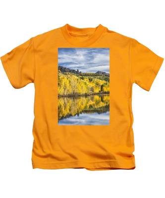 Reflection With Ophir Needles I Kids T-Shirt