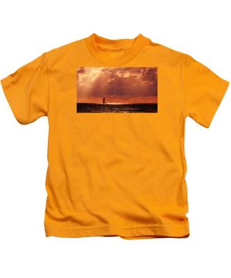 Sailboat Sun Rays Kids T-Shirt