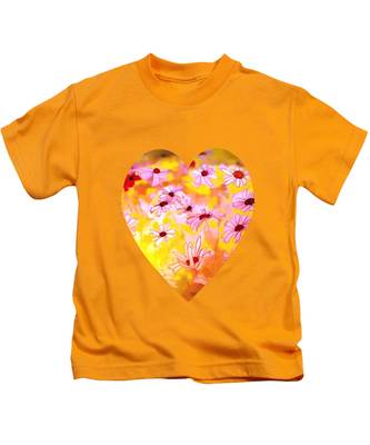 Summer Meadows-floral Painting By V.kelly Kids T-Shirt