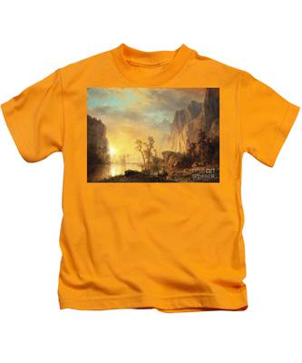 Sunset In The Rockies Kids T-Shirt