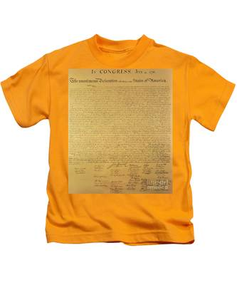 The Declaration Of Independence Kids T-Shirt