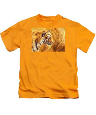 Tiger Tiger Burning Bright Kids T-Shirt
