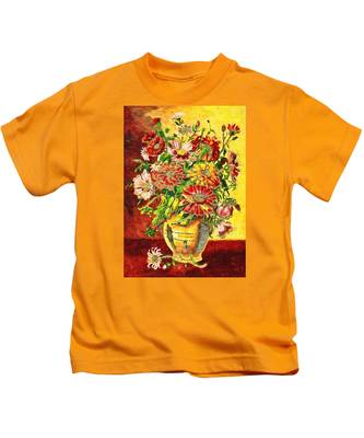 Vase Of Flowers Kids T-Shirt