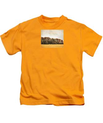 Three Crows And Golden Field Kids T-Shirt