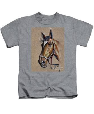 Horse Face - Drawing  Kids T-Shirt